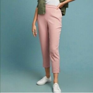 Anthropologie Pink Pull On Trouser Small NWT
